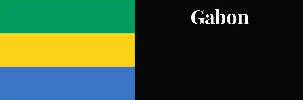 Gabon flag banner1